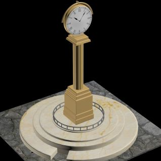 钟表街道3d模型