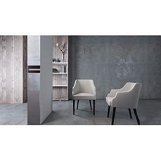 现代休闲椅子3d模型