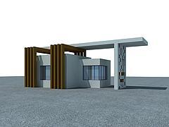 传达室模型3d模型