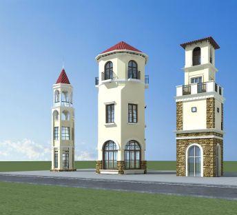 欧式建筑塔楼