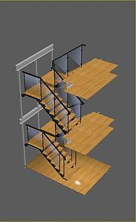 720楼梯模型3d模型