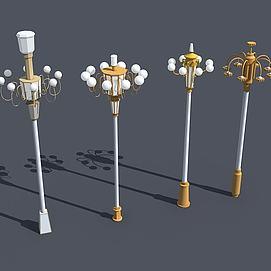 广场路灯模型