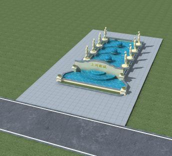 欧式中庭喷泉