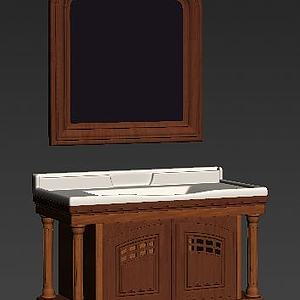 美式浴室柜模型