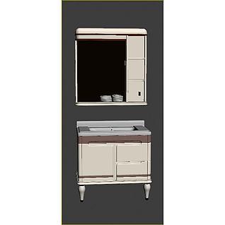 浴室柜3d模型