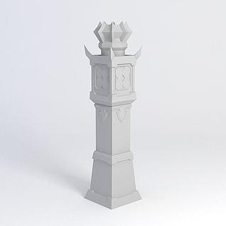 防御塔模型3d模型
