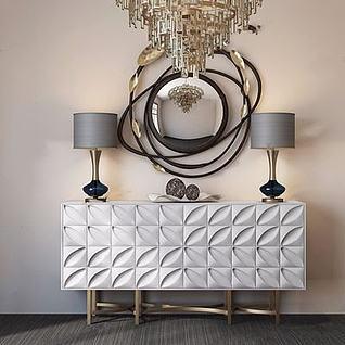 现代装饰柜3d模型
