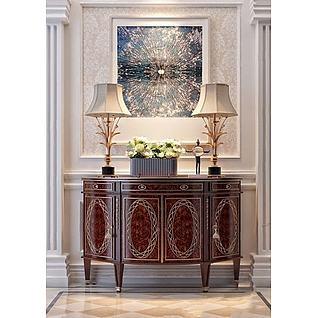 中式装饰柜3d模型