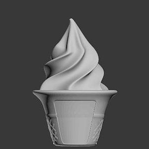 冰激凌模型