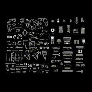 游戏装备武器库3d模型