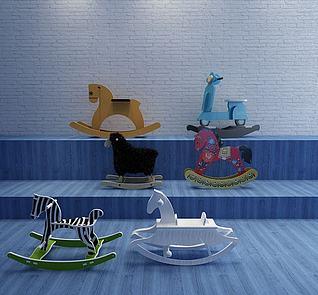 儿童木马模型3d模型
