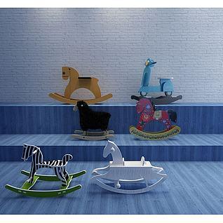 儿童木马3d模型3d模型