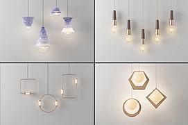 精美装饰吊灯组合3D模型