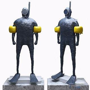 现代雕塑摆件3d模型