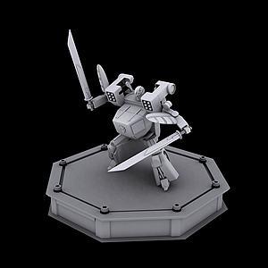 百变机兽龙卷风机器人模型