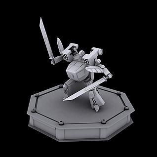 百变机兽龙卷风机器人3d模型