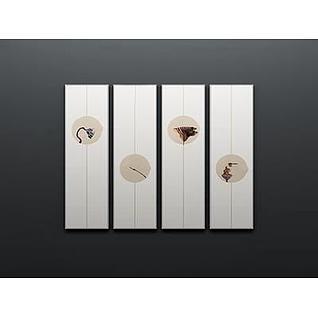 中式装饰画3d模型