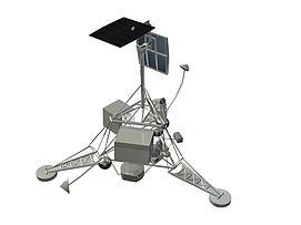 美国月球探测器徘徊者号模型