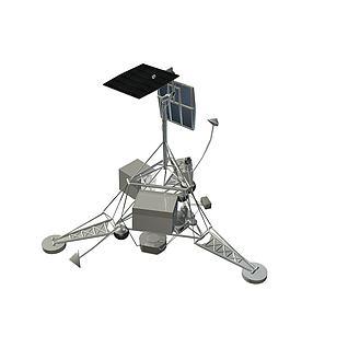 美国月球探测器徘徊者号3d模型