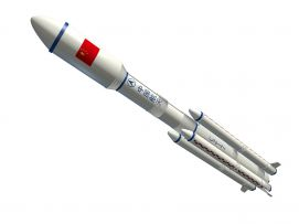 长征七号火箭模型