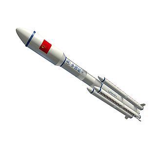 长征七号火箭3d模型3d模型