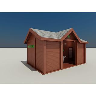 木屋卫生间3d模型