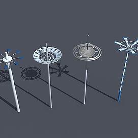 广场高杆灯模型