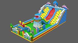 充气城堡儿童游乐模型