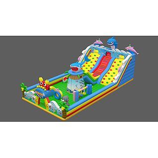 充气城堡儿童游乐3d模型3d模型