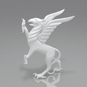 獅鷲3d模型