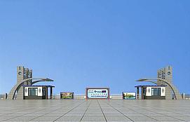 蒙古风大门3d模型