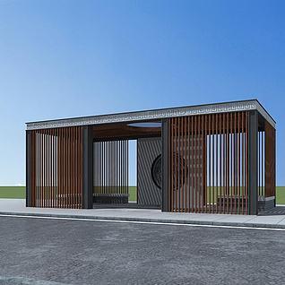 新中式凉亭3d模型