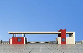 厂区大门入口3d模型