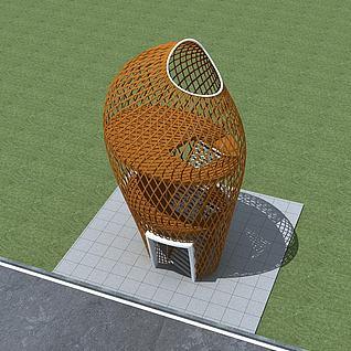 景观塔楼3d模型