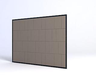 软包电视墙模型3d模型