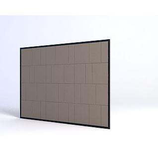 软包电视墙3d模型