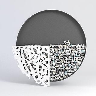 现代墙饰3d模型