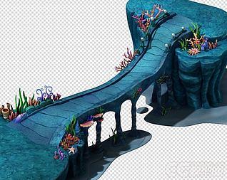 海底世界之皇宫引桥模型3d模型