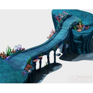 海底世界之皇宫引桥3d模型