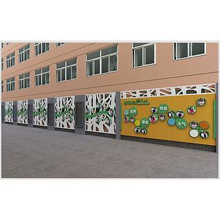 学校文化墙3d模型