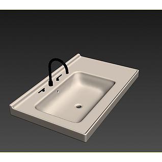 盥洗柜3d模型