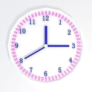 时钟3d模型