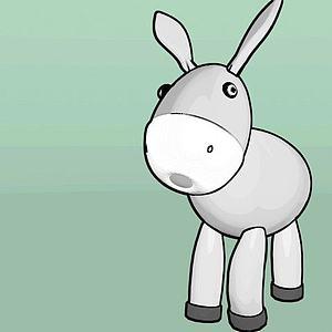 可愛萌萌的小驢3d模型