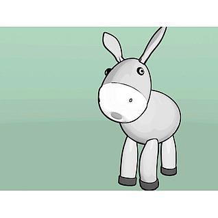 可爱萌萌的小驴3d模型3d模型