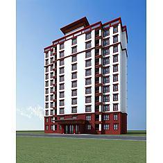 藏式高层住宅3D模型3d模型