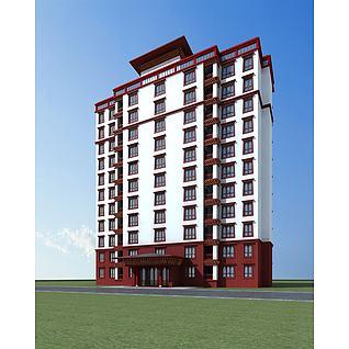 藏式高层住宅3d模型