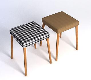 方凳模型3d模型