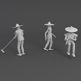 稻草人3d模型