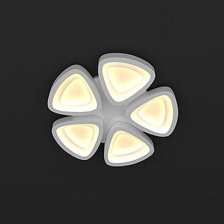 花形吸顶灯3d模型