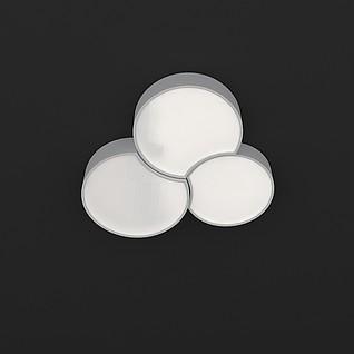 简约艺术吸顶灯3d模型